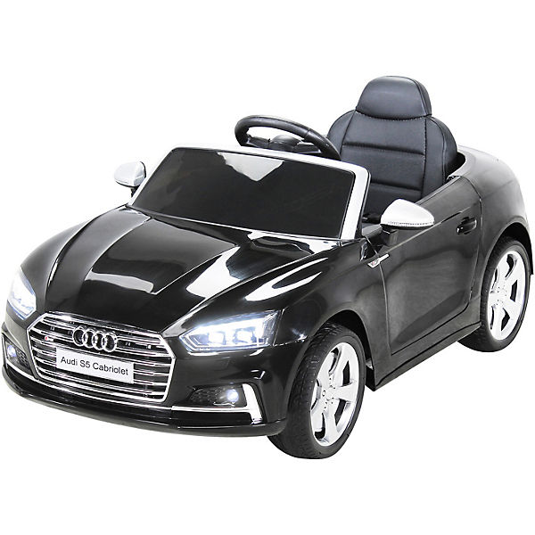 Kinder Elektroauto Audi S5 Cabriolet 12V, schwarz, Actionbikes Motors