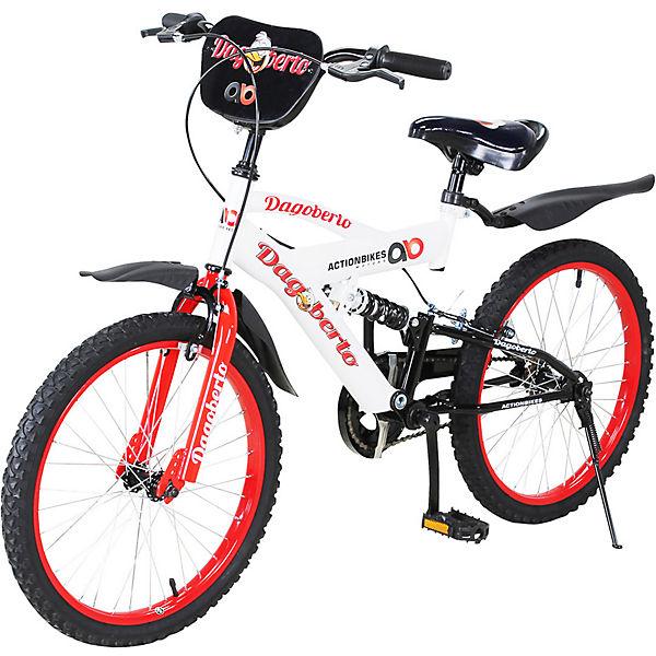 6b3823ef402baf Actionbikes Kinder Fahrrad Dagoberto 20 Zoll, weiß/rot, Actionbikes Motors
