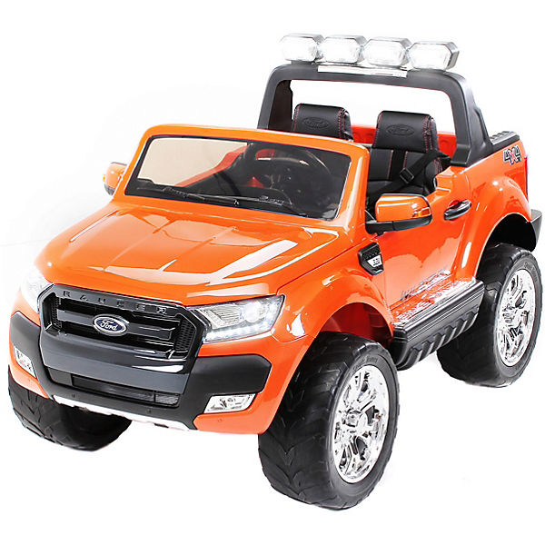Kinder Elektroauto Ford Ranger 2-Sitzer 4x45 Watt, 12V, orange