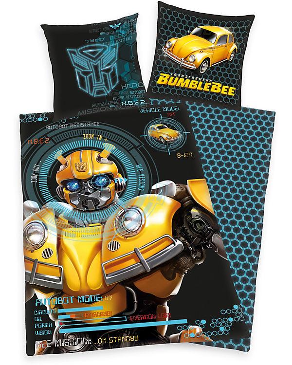 Wende Kinderbettwäsche Transformers Bumblebee Renforcé 135 X 200
