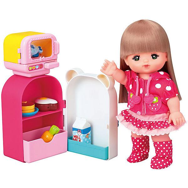 Аксессуары для куклы Kawaii Mell Микроволновка с холодильником