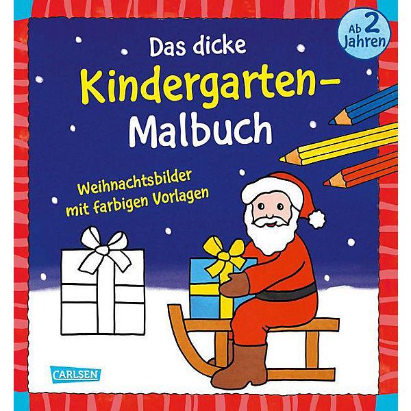 Weihnachtsbilder Mit Text.Das Dicke Kindergarten Malbuch Weihnachtsbilder Carlsen Verlag