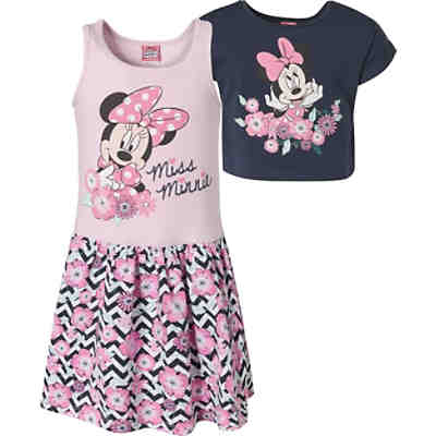 06b47502b9 Disney Minnie Mouse Kinder Set Jerseykleid + T-Shirt ...