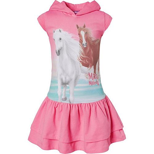 Miss Melody Kinder Jerseykleid mit Kapuze Gr. 104/110 Mädchen Kleinkinder | 04022158512231