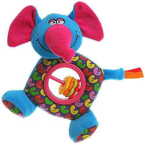 "Мягкая погремушка-пищалка Bondibon ""Baby You"" Слон от Bondibon"