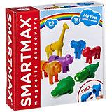 """Магнитный конструктор Bondibon """"SmartMax"""" Мой первый сафари-зоопарк, 18 деталей"""