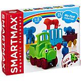 """Магнитный конструктор Bondibon """"SmartMax"""" Мой первый поезд с животными, 25 деталей"""
