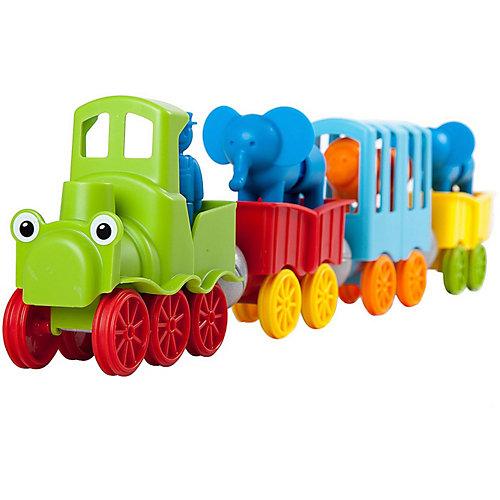 """Магнитный конструктор Bondibon """"SmartMax"""" Мой первый поезд с животными, 25 деталей от Bondibon"""