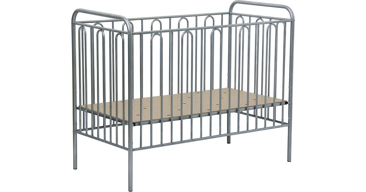 Kinderbett Vintage 110 aus Metall, silber