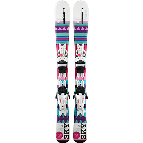 Горные лыжи с креплениями Elan Sky, 90 см - разноцветный