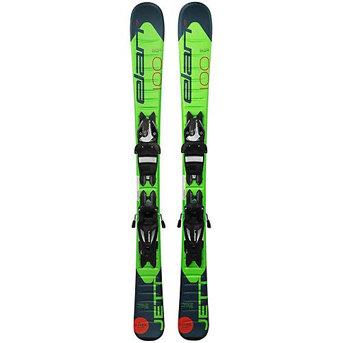 Горные лыжи с креплениями Elan Jett, 70 см - разноцветный