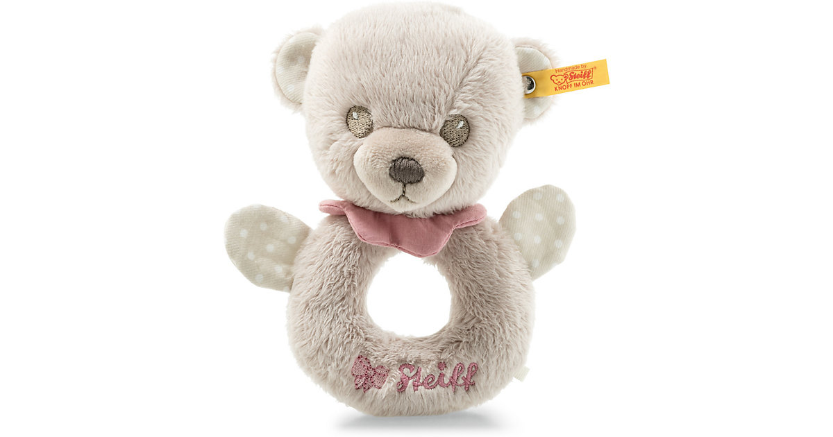 Steiff · Hello Baby Teddybär Lea Rassel (15 cm) [grau/pink]