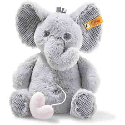 Soft Cuddly Friends Ellie Elefant Spieluhr (26 cm) [hellgrau]
