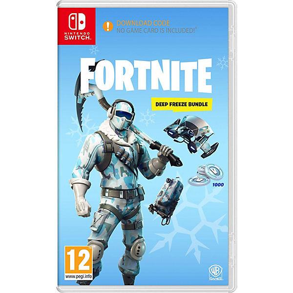 Nintendo Switch Fortnite Deep Freeze Bundle Code In The Box