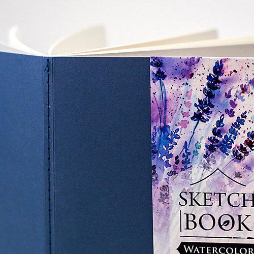 """Скетчбук Малевичъ для акварели """"Waterfall Nature"""", синий, 20 листов от Малевичъ"""