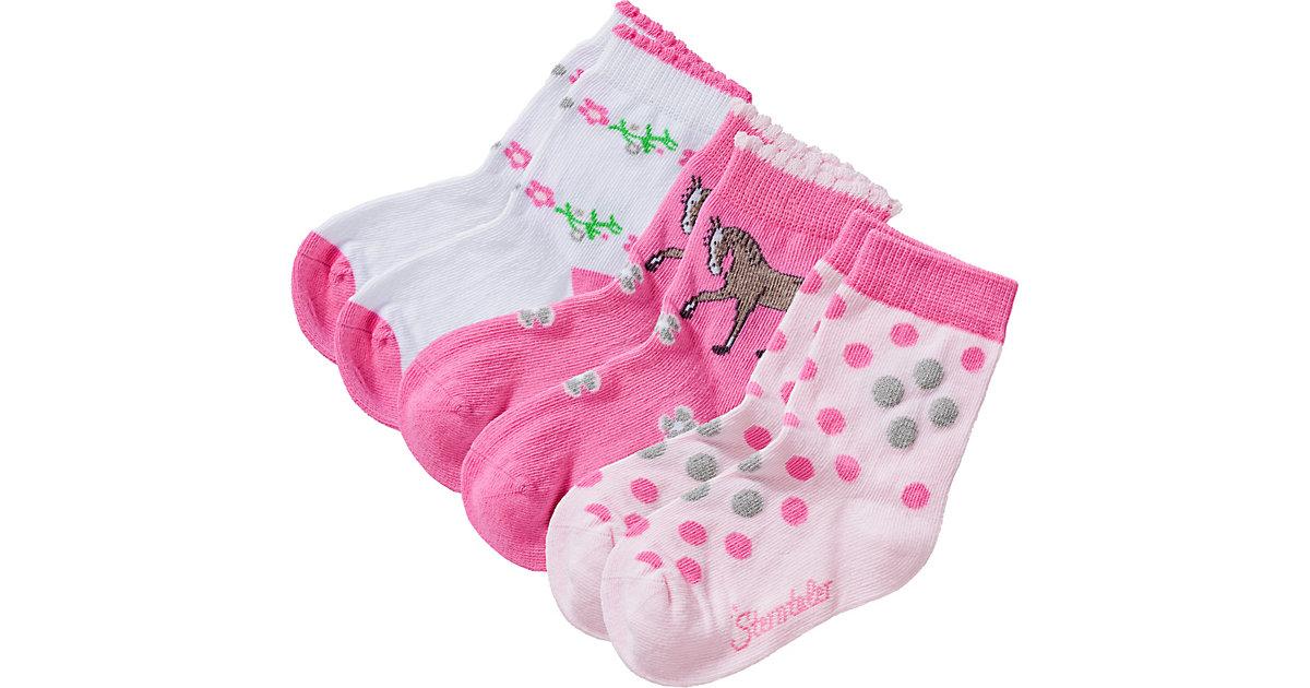 Sterntaler · Socken 3er Pack , Pferd Gr. 22 Mädchen Kleinkinder