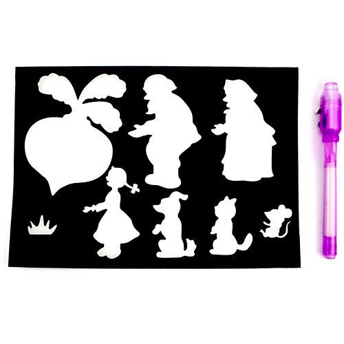 """Планшет для рисования светом """"СВЕТЛЯЧОК"""", с настольной игрой, формат А4 от Светлячок"""
