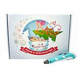 Новогодний набор 3Д Ручка Spider Pen PLUS, Пластик, Трафареты, цвет Фиолетовый