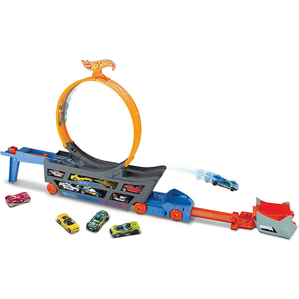 Hot Wheels Stunt N Go Transporter & Trackset