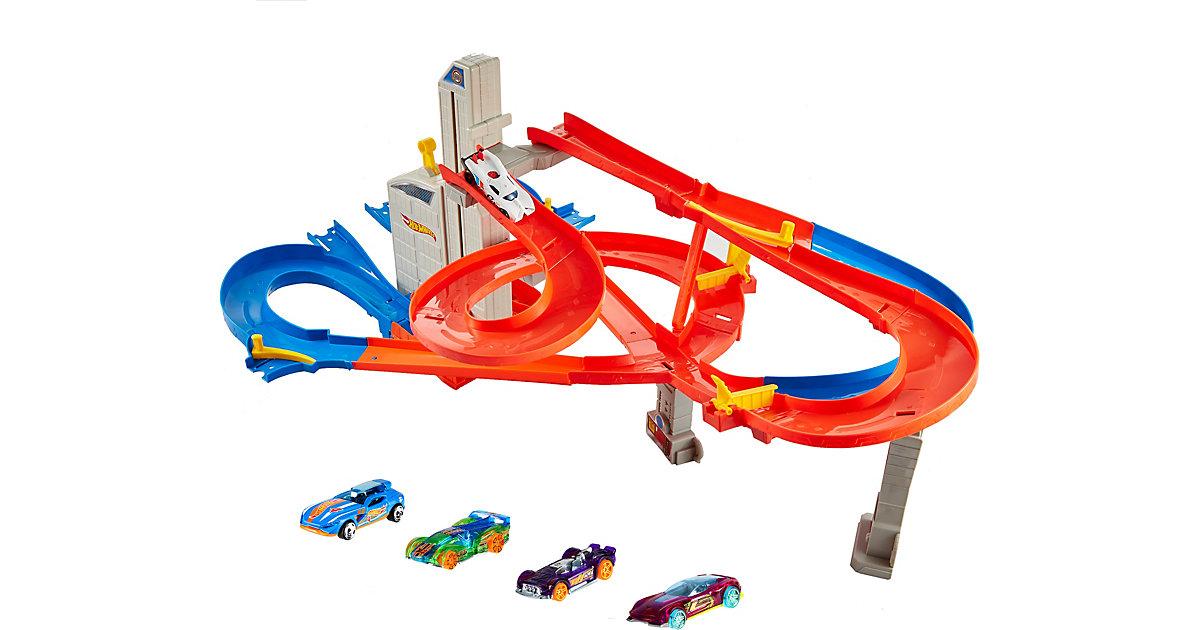 Mattel · Hot Wheels Auto-Lift Expressway Track Set inklusive 5 Autos