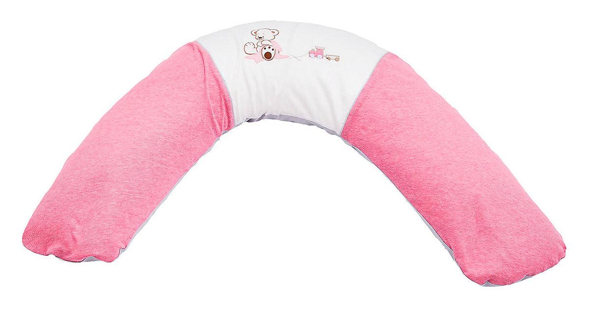 Be Be's Collection · Stillkissen Oskar, mit Baumwollbezug, rosa, 190 cm