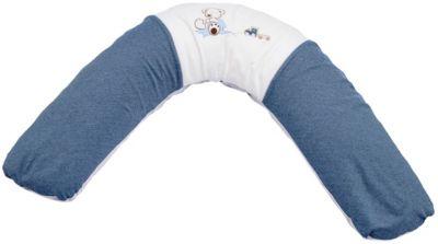 Bezug 34 Krönchen blau NEU Theraline Dodo Pillow Stillkissen 170 cm inkl