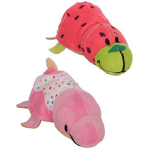 """Мягкая игрушка-вывернушка 1toy """"Ням-Ням"""" Морж с ароматом арбуза-Дельфин с ароматом пончика с кондитерской обсып от 1Toy"""