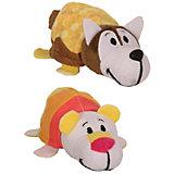 """Мягкая игрушка-вывернушка 1toy """"Ням-Ням"""" Хаски с ароматом медовой глазури-Полярный мишка с ароматом фруктового"""