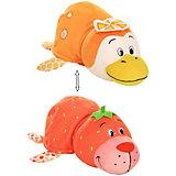 """Мягкая игрушка-вывернушка 1toy """"Ням-Ням"""" Морской котик с ароматом клубники-Пингвинчик с ароматом апельсиновой"""
