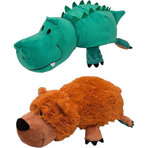 Мягкая игрушка-вывернушка 1toy Медведь-Крокодил, 40 см от 1Toy