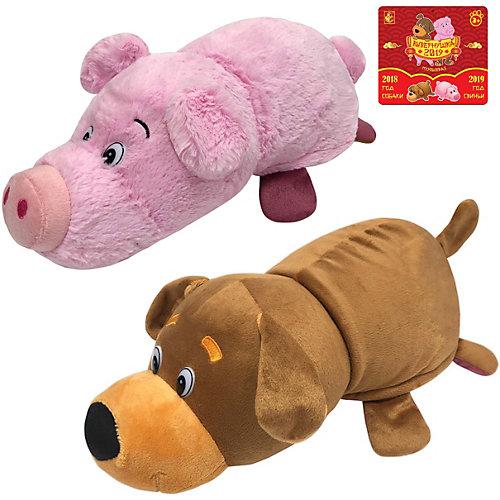 Мягкая игрушка-вывернушка 1toy Собака-Свинья, 35 см от 1Toy