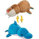 Мягкая игрушка-вывернушка 1toy Дельфин-Морж, 40 см
