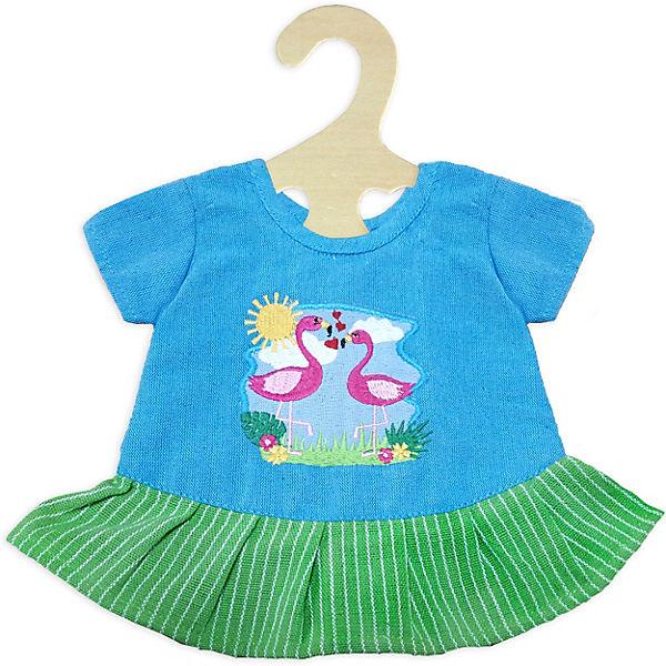 Kleid Flamingo Gr. 28-35 cm, Fair Trade, Puppenkleidung, Heless