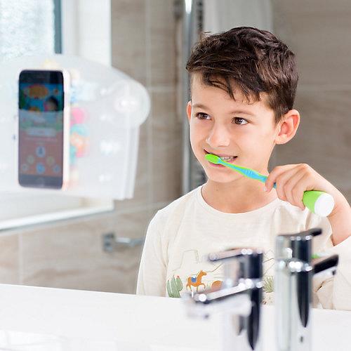 Умная насадка на зубные щётки Playbrush Smart и зубная щётка, розовая