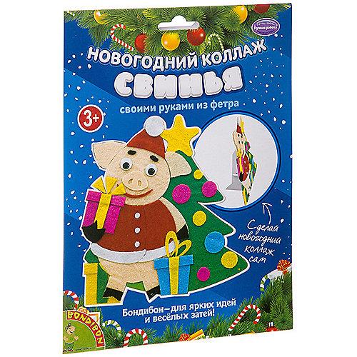 """Набор для творчества Bondibon """"Новогодний коллаж. Свинья."""" от Bondibon"""