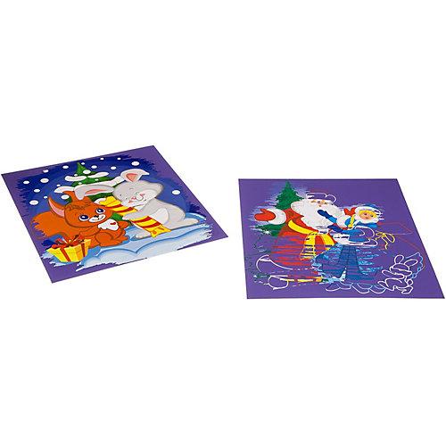 """Набор для творчества Bondibon """"Новогодняя цветная гравюра"""", для девочки от Bondibon"""