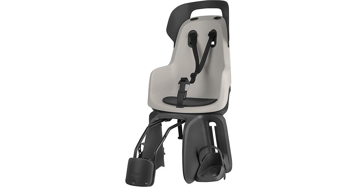 Fahrrad-Sicherheitssitz GO® EXCLUSIVE inkl. 1P-Bügel gepäckträgerlose Fahrräder, Vanilla Cup Cake hellgrau  Kinder