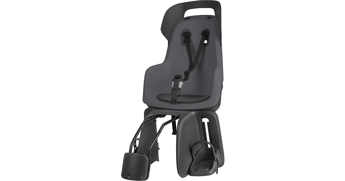 Fahrrad-Sicherheitssitz GO® EXCLUSIVE inkl. 1P-Bügel gepäckträgerlose Fahrräder, Macaron Grey dunkelgrau  Kinder