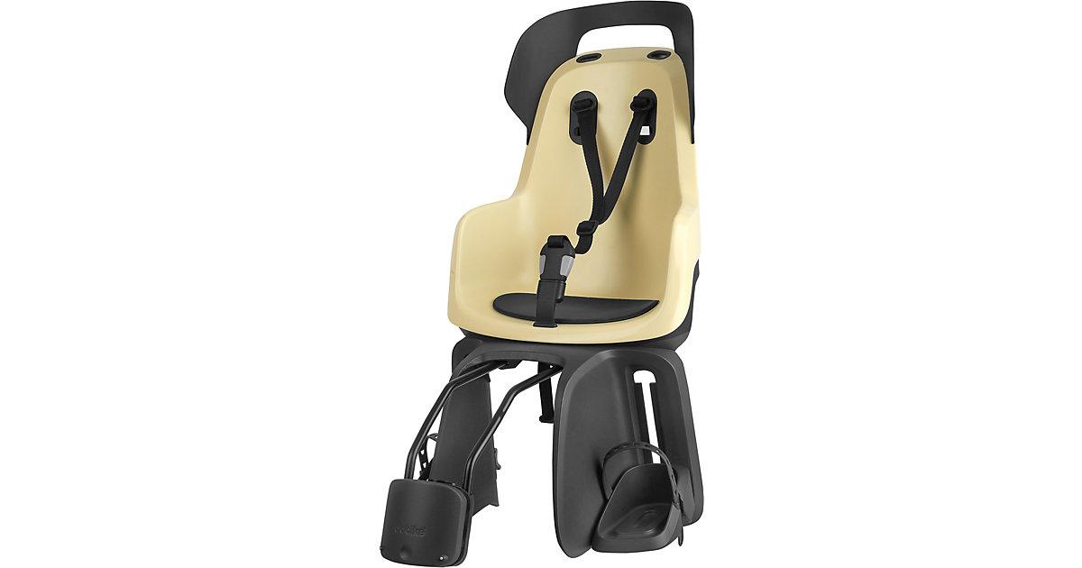 Fahrrad-Sicherheitssitz GO® EXCLUSIVE inkl. 1P-Bügel gepäckträgerlose Fahrräder, Lemon Sorbet gelb Kinder