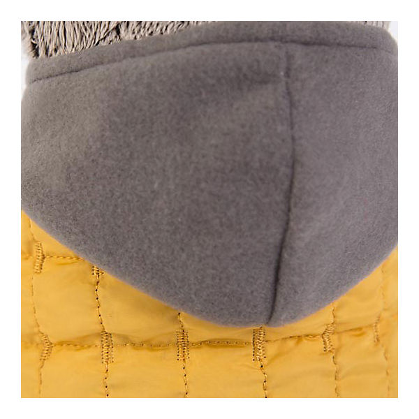 Мягкая игрушка Budi Basa Кот Басик в желтой жилетке с серым капюшоном, 22 см