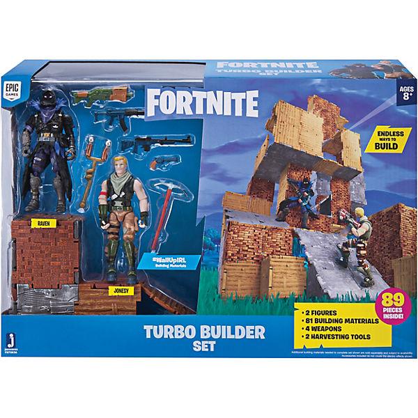 Fortnite Turbo Builder Set Mit Spielfiguren Jonesy Und Raven Fortnite