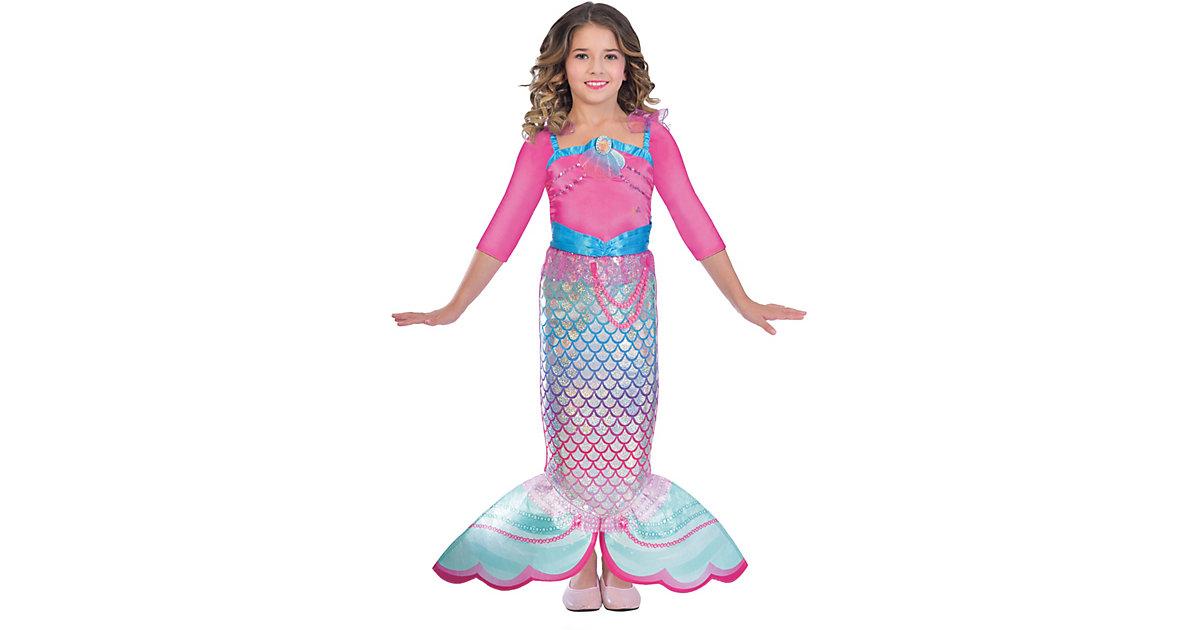 Kinderkostüm Meerjungfrau Barbie Rainbow Mermaid pink Gr. 104 Mädchen Kleinkinder