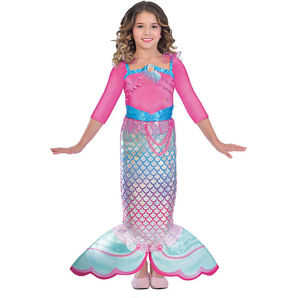 Kinderkostüm Meerjungfrau Barbie Rainbow Mermaid