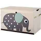 Сундук для хранения игрушек 3 Sprouts Слон, серый