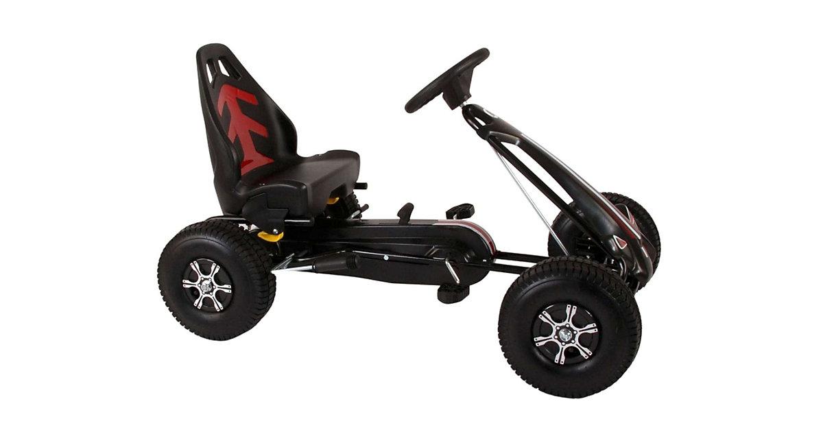 Go Kart Rennwagen - Jungen - groß - Luftreifen grau/schwarz