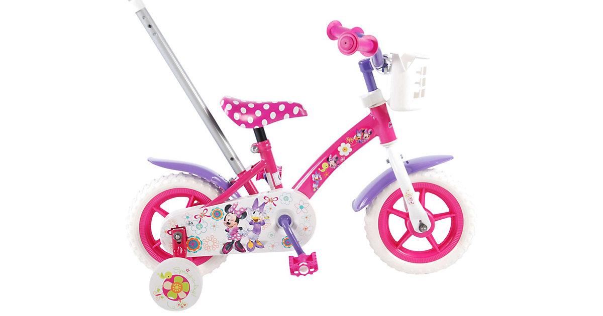 Disney Minnie Bow-Tique Kinderfahrrad - Mädchen - 10 Zoll - Pink / Weiß / Lila rosa