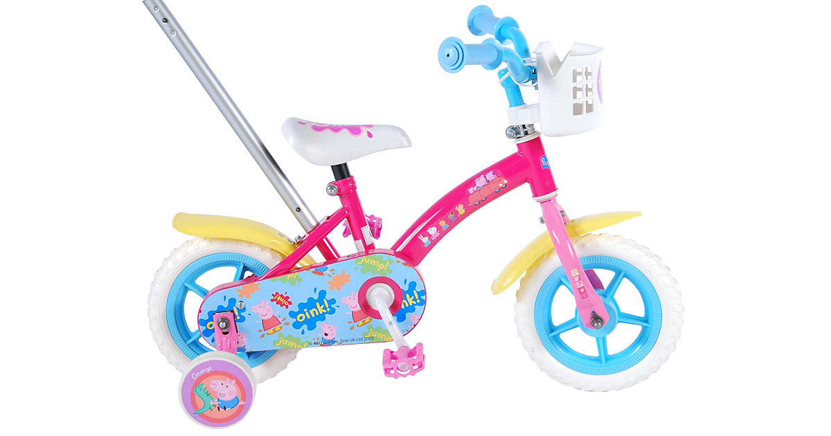 Peppa Pig Kinderfahrrad - Mädchen - 10 Zoll - Pink / Blau rosa