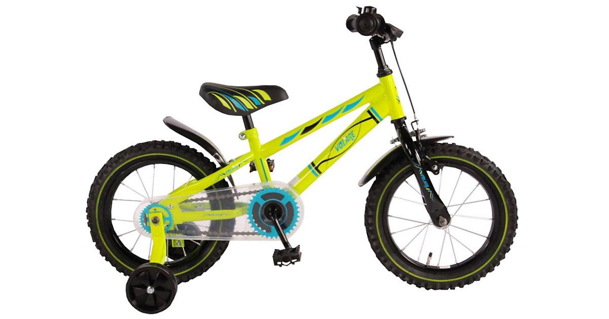 Electric Green Kinderfahrrad - Jungen - 14 Zoll - Neongrün -