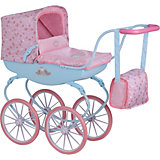 Коляска для кукол винтажнаяBaby Annabell, розово-голубая
