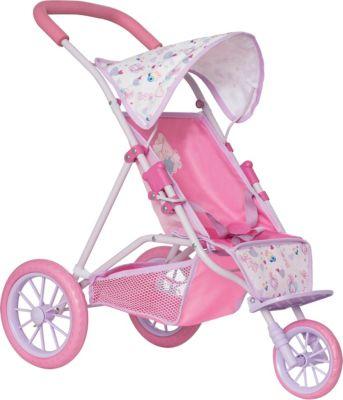 Коляска для кукол трехколесная Baby Born, розовая
